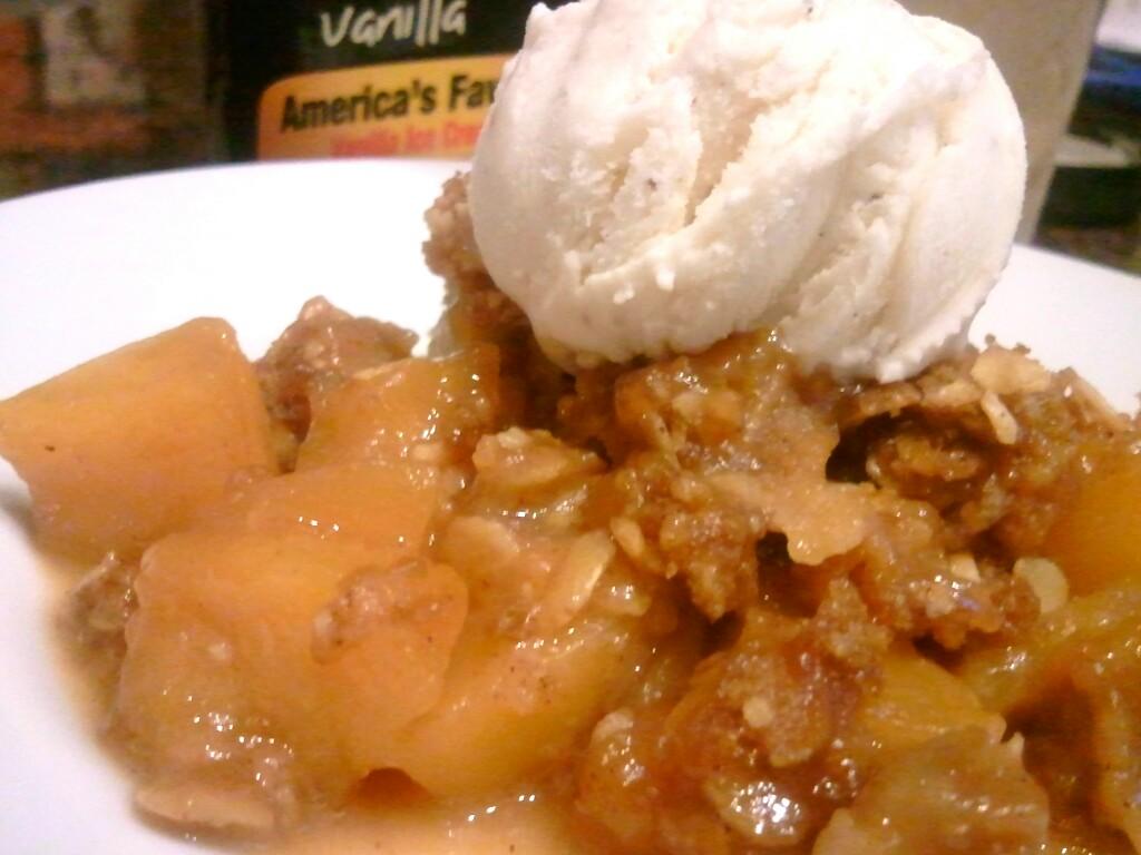 Peach Crisp Recipe — Dishmaps
