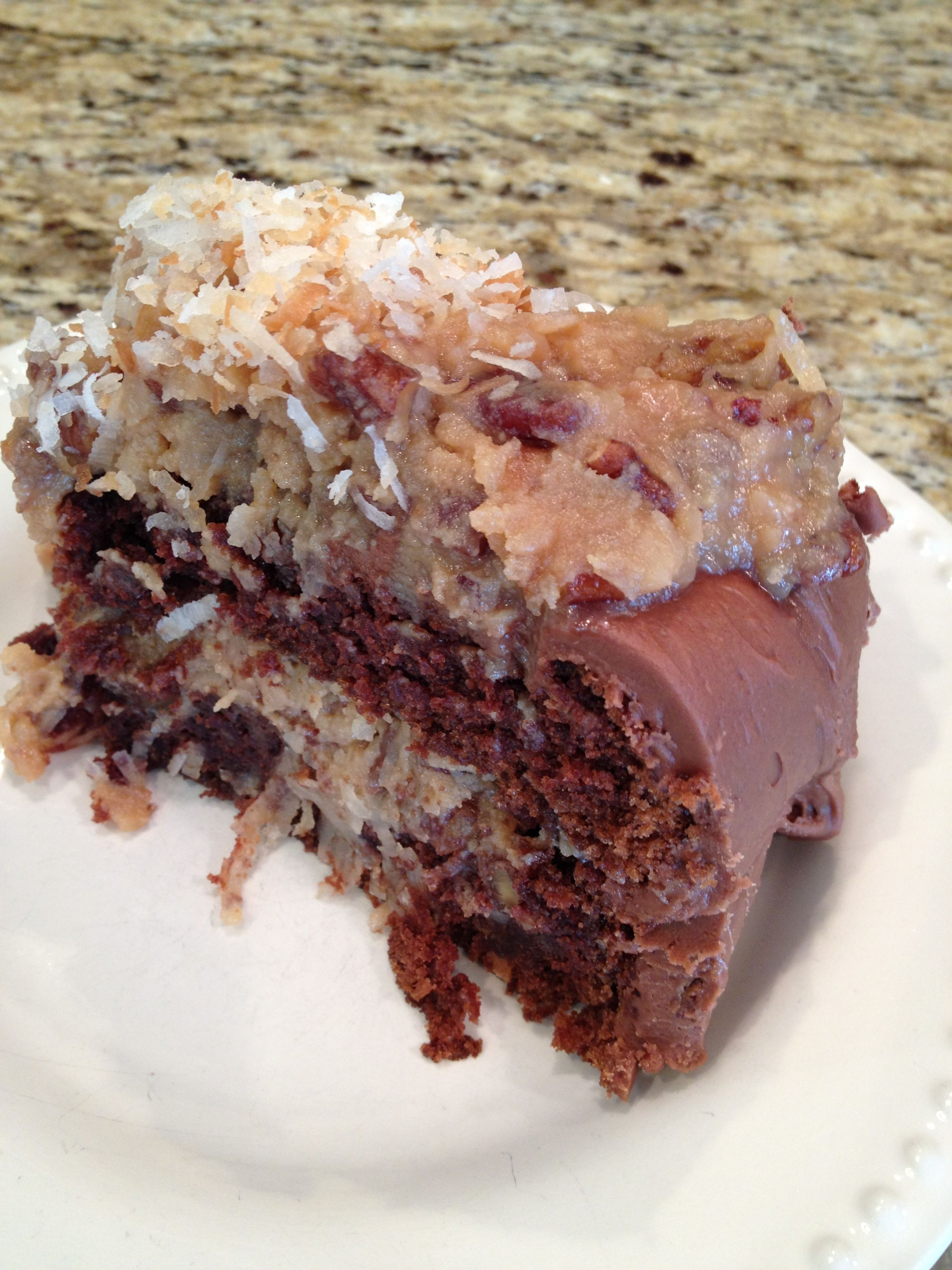 i hate german chocolate cake Best ever german chocolate cake a moist chocolate cake and traditional coconut pecan frosting, layer upon layer of goodness.